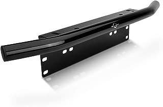 MICTUNING Universal License Plate Mounting Bracket Front Bull Bar Bumper for Off Road LED Work Light Bar