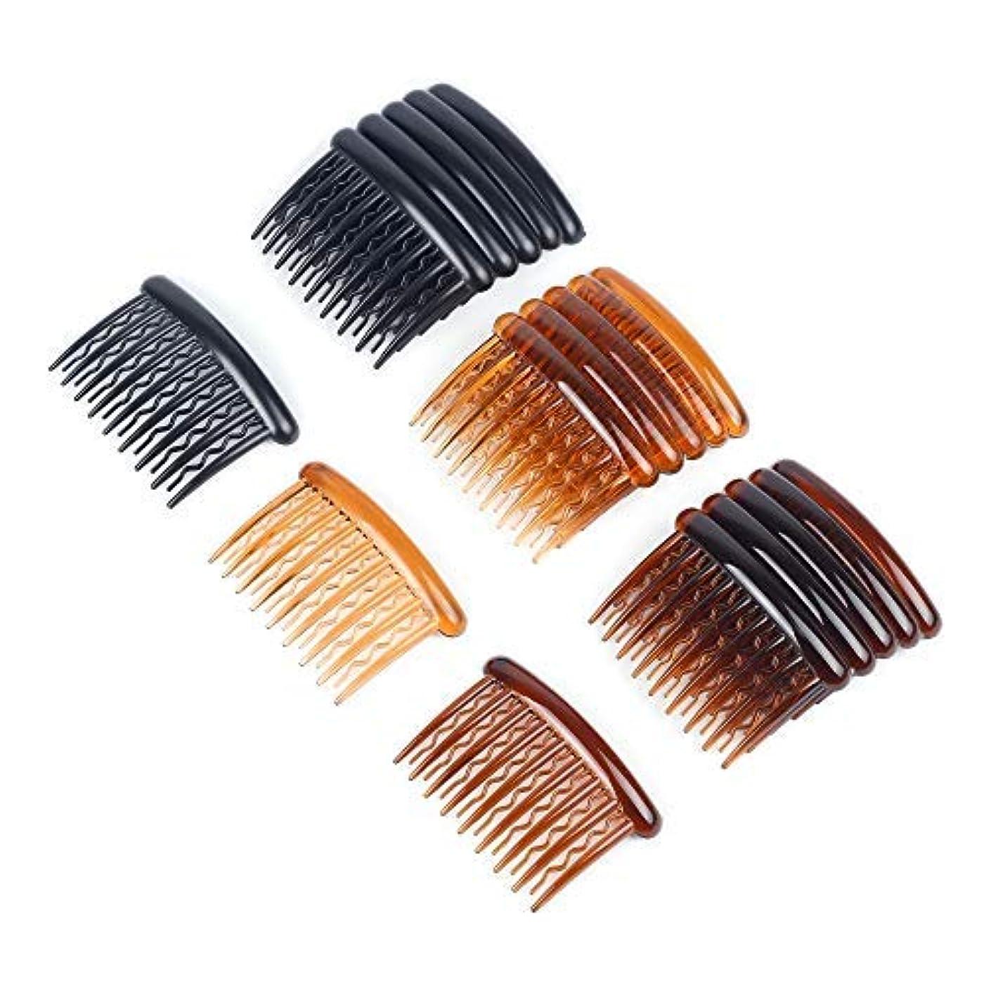 ソーダ水影響する秘書WBCBEC 18 Pieces Plastic Teeth Hair Combs Tortoise Side Comb Hair Accessories for Fine Hair [並行輸入品]