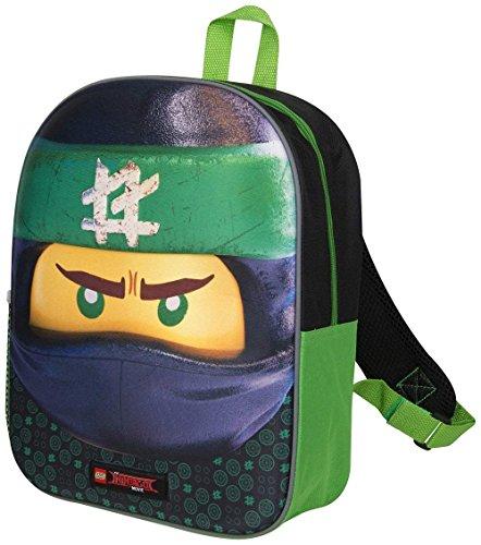 51Su0ccMt3L - Mochila 3D Lego Ninjago Green Ninja para Niños Escuela Viaje