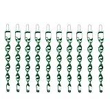 Vogelschreck zur Vogelabwehr [10er Set] Reflektierende Windspirale in grün - Ideal als Deko - Abwehr von Vögeln im Haus & Garten (10, Grün)