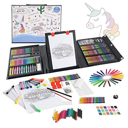 KIDDYCOLOR 211 Teile Deluxe Art Creativity Set Box für Anfänger Tolles Geschenk für Kinder