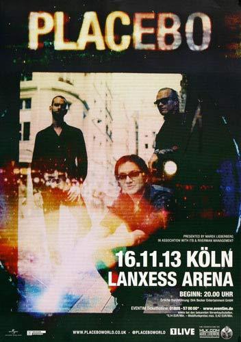 Placebo - Hold On to, Köln 2013 » Konzertplakat/Premium Poster | Live Konzert Veranstaltung | DIN A1 «
