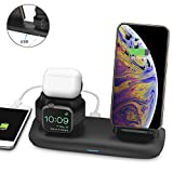 Chargeur sans Fil pour i Phone i Watch, 3 in 1 Support de charge sans fil pour Airpods 2 Qi Portable Chargeur Station pour for i...