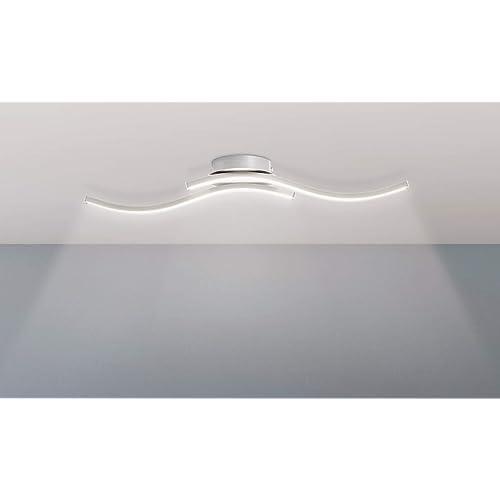 Trango Design moderne Plafonnier LED/éclairage de salle de bain/applique murale TG3159 avec 2x module LED 3000K blanc chaud directement 230V