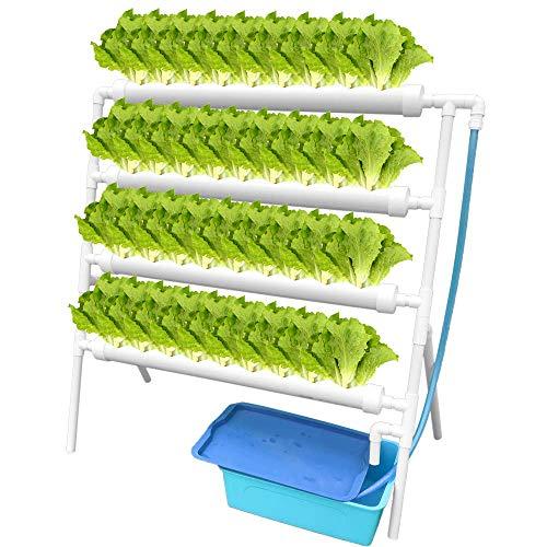 ETE ETMATE  Kit di Coltivazione idroponica per ortaggi, Verdure per Insalata, Fiori, Frutta PVC Hydroponic Pipe Home (Hydroponic Grow Kit 36 Sites 4 Pipes, Tipo Standing)