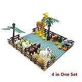 ASDFG Mini Bloques de construcción clásicos Animales de zoológico para niños Juguetes City Friends Creator Bricks Placas Base