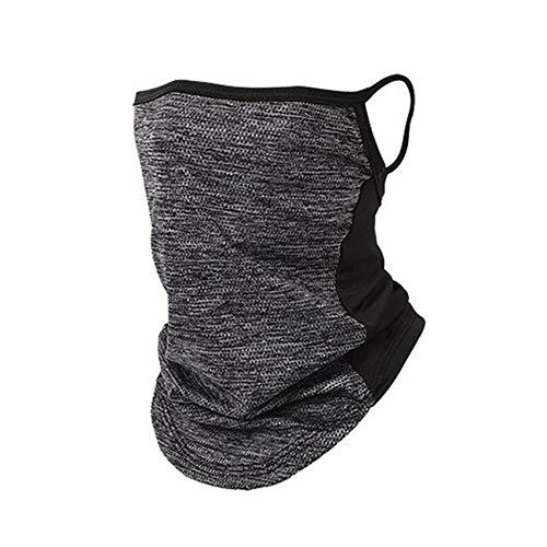Rpanle Face Shield Schlauchschal,Multifunktionstuch Motorrad Mundschutz Halstuch Bandana Eisseide Halsmanschette für Damen Herren-Grau
