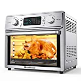 HomeRusso 24-in-1 Air Fryer Oven, 26.3 Quart Large Convection Toaster Oven Countertop Stainless...