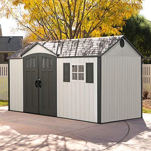 Lifetime Texas with Windows 381X239cm Plastic Plastic Garden Shed, garden shed