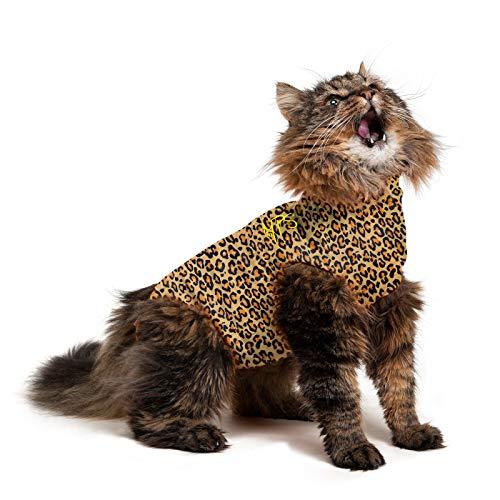 MPS Medical Pet Shirt Katze, Leoparden Print, XS