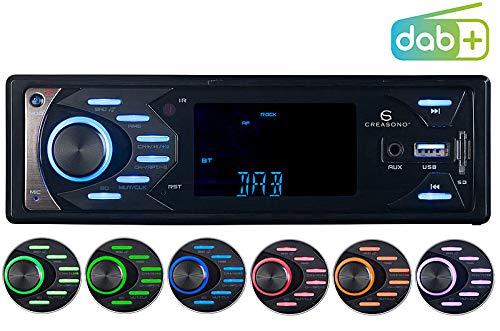 Creasono LENGUADO Radios de Coche: Radio de Coche MP3 con Dab +, Función Bluetooth y Manos Libres, 4X 45 vatios (LENGUADO Radio automóvil)