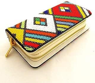 SALE African Zulu beaded clutch purse bag - Multicolour - Diamond design