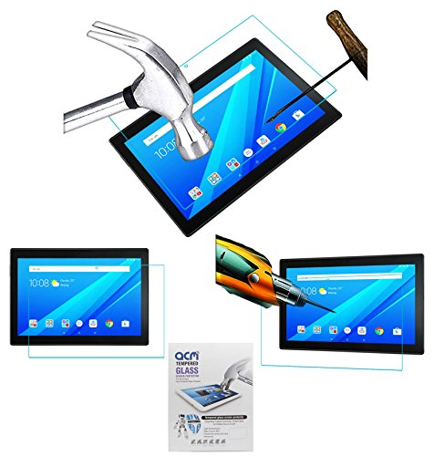 Acm Tempered Glass Screenguard Compatible with Lenovo Tab 4 10 Tb-X304L Tablet Screen Guard