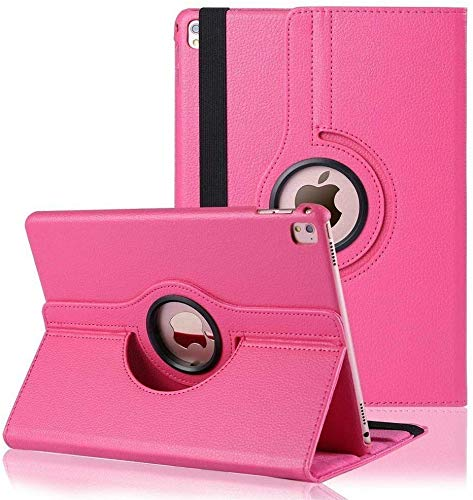 360 Rotating Case for iPad 10.2 2020/2019, Rotating Stand Protective Cover for iPad 8th Gen/iPad 7th Gen with Pencil Holder, Wallet Pocket, Hand Strap and Smart Cover for iPad 10.2 (Pink)
