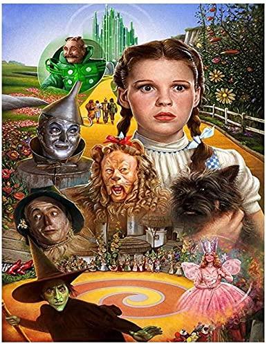 Pintura de diamante 5D DIY, el Mago de Oz, kit de diamante digital para adultos y niños, decoración de mosaico con bordado de diamantes.(24x35inch)