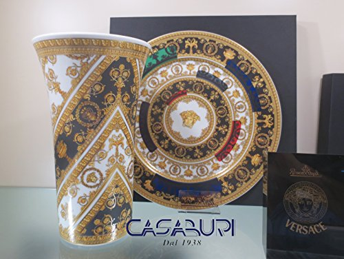 VERSACE . Set 2 pièces I Love Baroque Assiette 33 cm I Love Baroque and Roll + Vase cm 26