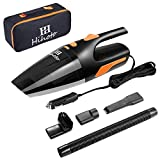 HIHOTO Car-Vacuum, 6KPA Strong Suction Portable Handheld Car Vacuum Cleaner, Wet Dry High Power Vacuum Cleaner– Black & Orange