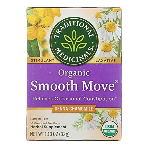 Traditional Medicinals Organic Smooth Move Chamomile Tea, 16 Tea Bags