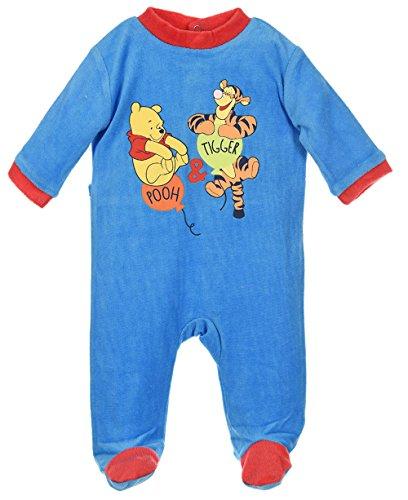 Pyjama bébé garçon Winnie l'ourson et Tigrou Bleu et Orange de 3 à 23mois (23 mois, Bleu)