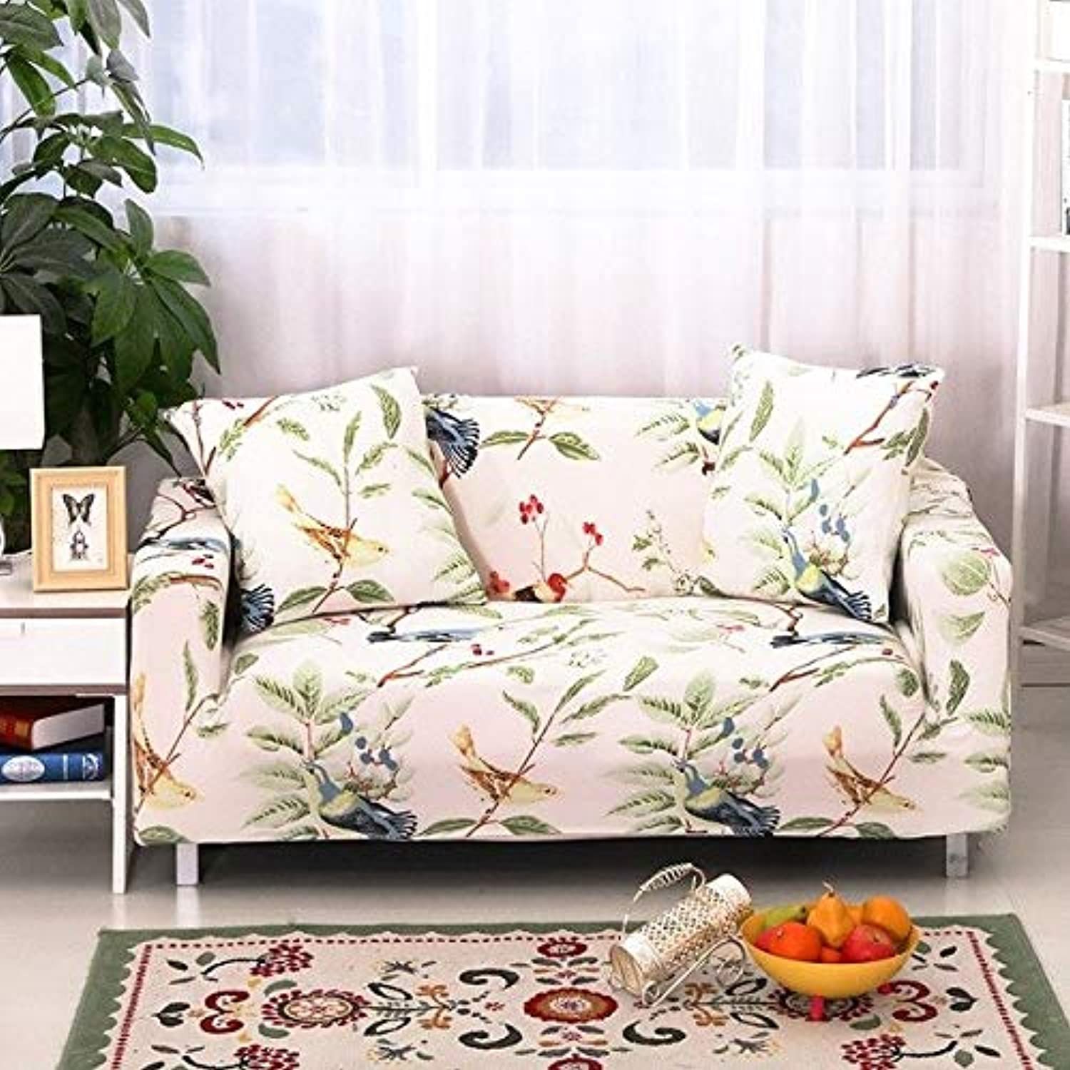 Farmerly Flower Slipcover Sofa Cover Tightly All-Inclusive Wrap Single Double Three Four-Seat Sofa Cover Elasticity Sofa Cover 1pcs   03, Single Seat