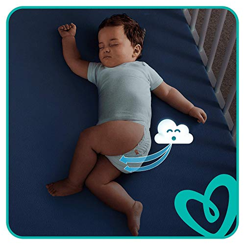 Pampers Baby-Dry Size 7, 112 Nappies, 15+ kg, Air Channels for Breathable Dryness Overnight, Monthly Pack
