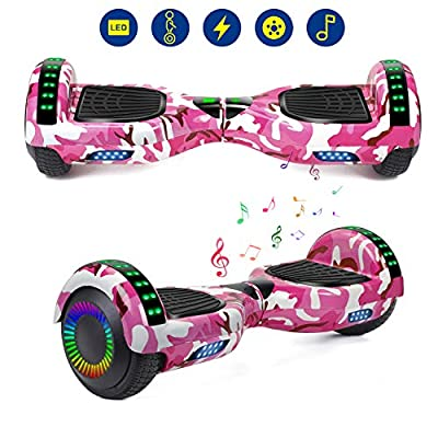 YHR Hoverboards UL2272 Certified with Wireless Bluetooth Speaker LED Wheel 6.5inch Self Balancing Hoverboard for Kids
