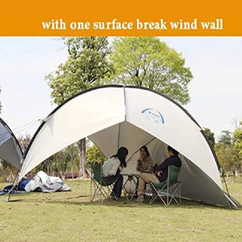 Enoche outdoor Event Shelter Wasserdicht Zelt Pavillon, stabiles Partyzelt mit Stahlgestänge, Gazebo, Eventzelt, Sonnenschutz SPF 50+(with 3 Surface Break Wind Wall) White
