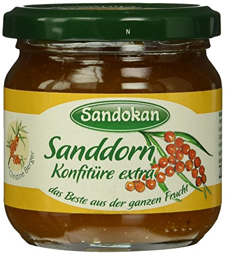 Sandokan Sanddornkonfitüre Extra, 6er Pack (6 x 225 g)