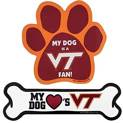 NCAA Virginia Tech Hokies Paw Print Car Magnet