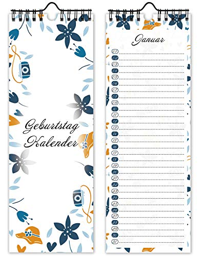 Geburtstagskalender Immerwährend Ohne Jahr Wandkalender 2021 Kalender Streifenkalender Jahresplaner Monatsplaner Wochenplaner Tischkalender Monatskalender Jahreskalender Selbst Gestalten Blau
