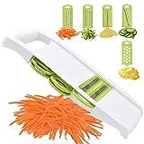 NACOLUS 5 in 1 Mandoline Slicer Vegetable Slicer Mandolin Multi Blade Potato Veggie Slicer Vegetable Cutter Julienne Shredder Cheese Grater