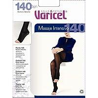 PANTY PUNTERA ABIERTA 140 den compresión fuerte (18/22 mmHg), activa la circulación y descansa tus piernas puntera abierta para que no oprima los dedos del pie (NATURAL, M)