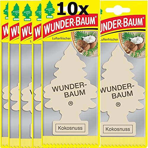 10 x Wunderbaum Kokos, lufterfrischer, duftbäume, duft Kokosnuss
