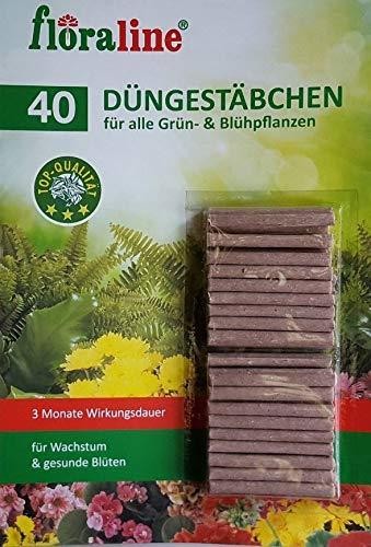 Düngestäbchen für Zimmer und Balkonpflanzen, 3 Monate Langzeitwirkung, 40 Stück