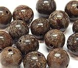 Pietre di bronzo bronzite, pietre preziose, 8 mm, 6 mm, 4 mm, rotonde, pietre semipreziose, accessori per gioielli fai da te (4 mm - 25 pezzi)