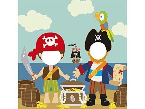 Photocall Pirata 1x1,20m Infantil | Photocall Piratas | Photocall Económico y Original | Photocall Troquelado
