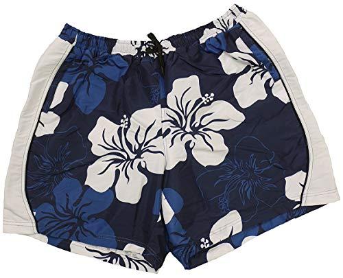 Abraxas Übergrößen Schicke Bade-Shorts Blumenprint Navy/Weiß 10XL