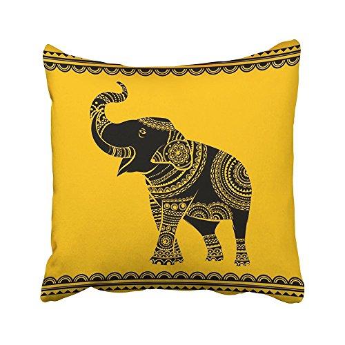 N / A Pillowcase Mandala විසිතුරු අලි අයිඩියල් පච්ච ජනවාර්ගික යෝග අප්රිකානු අධ්යාත්මිකතාව Boho නිර්මාණ සංගීතය 45X45 Cm Pillowcases Cushion Cover