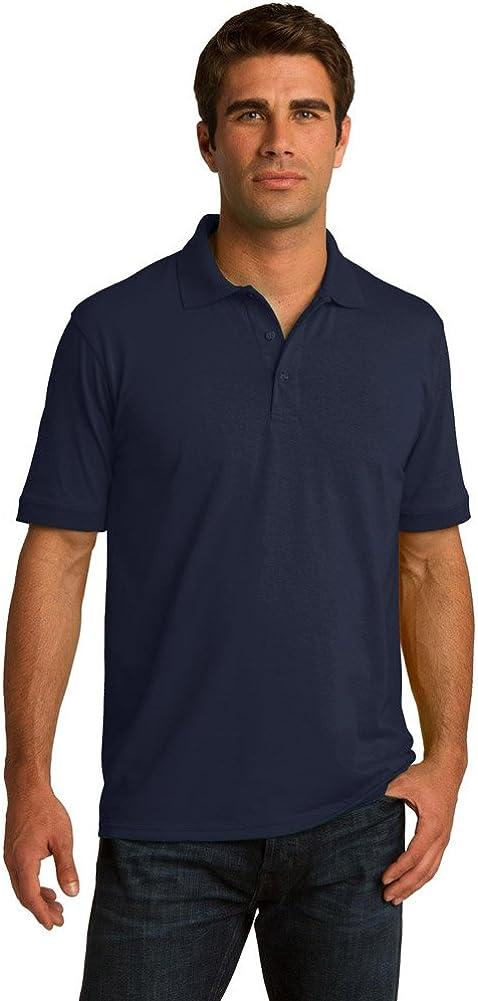 Port & Company Tall 5.5-Ounce Jersey Knit Polo Shirt, Deep Navy, XXXX-Large Tall
