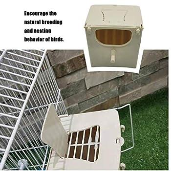 Nichoir à oiseaux Nichoir à cage à oiseaux Nichoir en plastique pour perruche, nid d'éclosion d'oiseaux nid d'éclosion pour perroquet Cage d'éclosion, boîte d'accouplement d'élevage, nichoir à montage