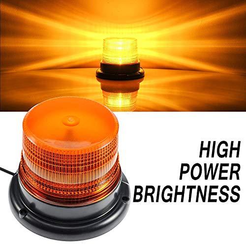 LED Strobe Light,12V/24 Amber Warning Lights,Emergency Flashing Beacon Light with Magnetic for Trucks Vehicles