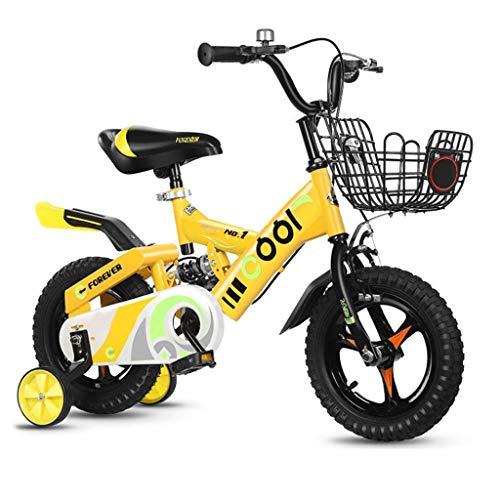 LIUCHANG Lquide Kinder Bicle 2-3-5-6 Jahre Alter Junge Mädchen Bicle mit Silent Hilfsrad LIN liuchang20 (Color : 14in|2)