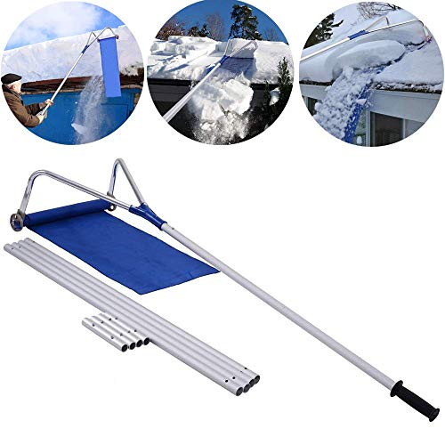 Check Out This B&H-ERX Snow Roof Rake,Multi-Purpose 20 Ft with Adjustable Telescoping Handle Snow Sh...