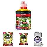 Semillas Batlle Abonos - Fertilizante Universal Botella 400ml - Batlle 960002PIC Sustrato Universal, 10 l + Sustratos - Sustrato Universal 5l + Sustratos - Sustrato Perlita 5L