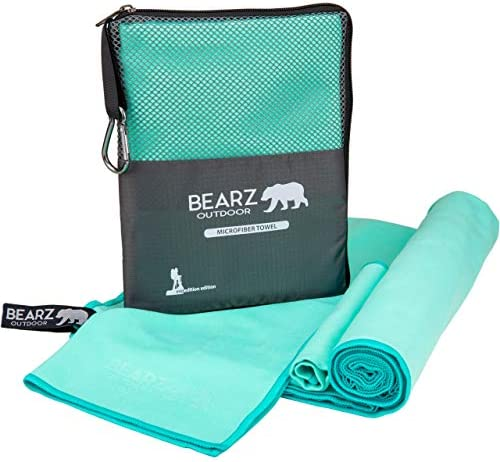 BEARZ Outdoor Quick Dry Towel Travel Towel Ultra Compact Camping Towel Workout Towel Microfiber product image