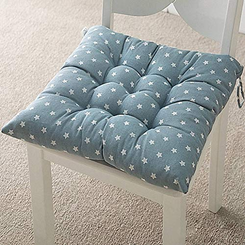 YUMYANY Portable Non-slip Seat Cushion, Thicken Soft Cozy Chair Cushion with Ties Suitable for Indoor Outdoor Garden Chair Pad-45x45cm(18x18inch)-H