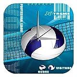 LEotiE SINCE 2004 Wanduhr mit geräuschlosem Uhrwerk Dekouhr Küchenuhr Baduhr Retro Deko Volleyball Netz Dekouhr Vintage Nostalgie
