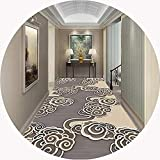 Extralarga Pasillo corredor Alfombra antideslizante suave insípido fácil de limpiar gris simple, conveniente for el hogar Entrada del hotel, Cuttable personalizable ( Color : A , Size : 0.9x4m )