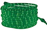 Tupkee LED Rope Light Green - 24 Feet (7.3 m), for Indoor and Outdoor use, - 10MM Diameter - 144 LED Long Life Bulbs Rope Tube Lights