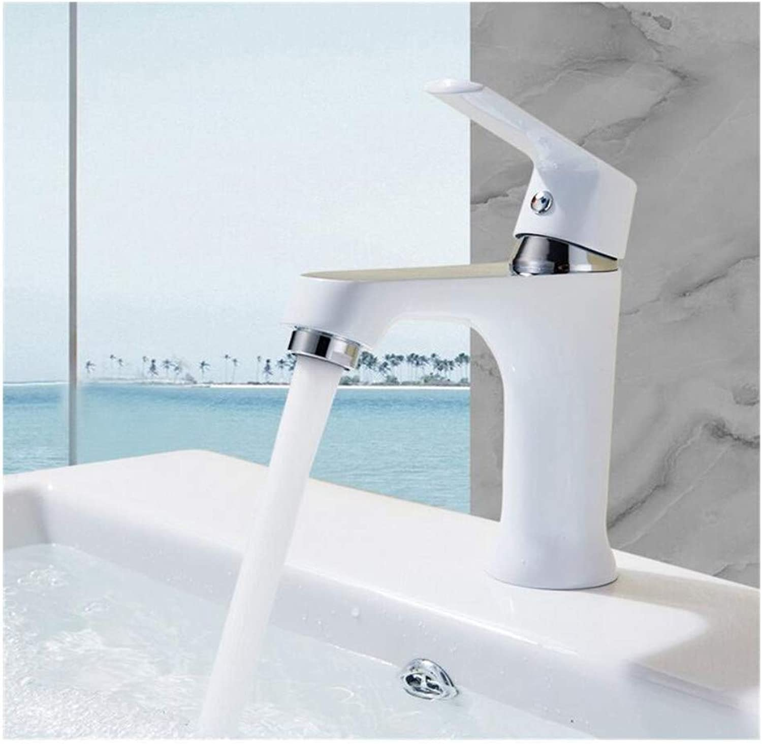 Modern Double Basin Sink Hot and Cold Water Faucetfashion Style Home Multi-color Bath Basin Brass Faucet Cold and Hot
